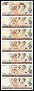 World Currency, New Zealand Reserve Bank of New Zealand 1; 2; 5 Dollar NDs (1985-89) Pick 169b (7); 170b (7); 171b (7) 21 Examples