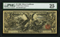 Large Size:Silver Certificates, Fr. 269 $5 1896 Silver Certificate PMG Very Fine 25.. ...