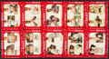 Baseball Cards:Lots, 1952 Star-Cal Decal Type 2 Collection (10). ...