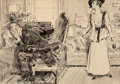 Works on Paper, James Montgomery Flagg (American, 1877-1960). The Shameful Confession. Ink on board. 19-1/2 x 27-1/2 inches (49.5 x 69.9...