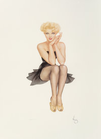 Alberto Vargas (American, 1896-1982) Cover Girl Lithograph in colors on paper 35-1/2 x 26 inches