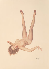 Alberto Vargas (American, 1896-1982) Legacy Girl Lithograph in colors on paper 36 x 26-1/4 inches