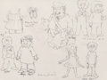 Works on Paper, Maurice Sendak (American, 1928-2012). Various untitled sketches. Pencil on vellum. 9 x 12 inches (22.9 x 30.5 cm). Signe...