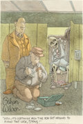 Works on Paper, Gahan Wilson (American, b. 1930). Well, It's Certainly High Time You Got Around to Fixing That Lock, Straus. Watercolor ...