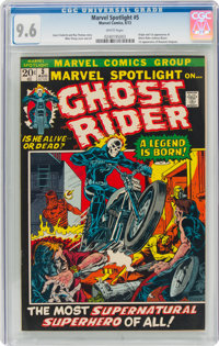 Marvel Spotlight #5 Ghost Rider (Marvel, 1972) CGC NM+ 9.6 White pages