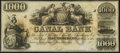 Obsoletes By State:Louisiana, New Orleans, LA- New Orleans Canal and Banking Company $1000 18_ Remainder Crisp Uncirculated.. ...