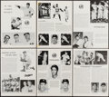 Autographs:Photos, New York Yankees and Brooklyn Dodgers Signed Magazine Page...