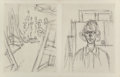 Prints & Multiples, Alberto Giacometti and Marcel Duchamp. La Double Vue, portfolio, 1964. Etching on board . 11 x 8-1/2 inches (27.9 x 21.6...