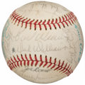 Autographs:Baseballs, 1974 American League All-Star Team Signed Baseball.