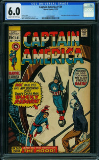 Captain America #131 (Marvel, 1970) CGC FN 6.0 Cream to off-white pages