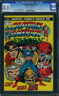 Captain America #162 (Marvel, 1973) CGC VF+ 8.5 Off-white to white pages