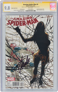 The Amazing Spider-Man #4 Ramos Variant Cover - Signature Series: Stan Lee (Marvel, 2014) CGC NM/MT 9.8 White pages
