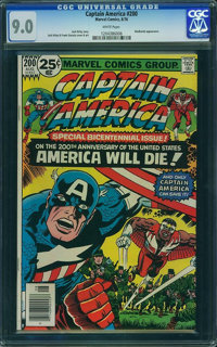 Captain America #200 - WESTPORT COLLECTION (Marvel, 1976) CGC VF/NM 9.0 White pages