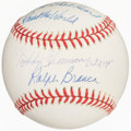 Autographs:Baseballs, Bobby Thompson, Ralph Branca Dual-Signed, Inscribed Baseba...
