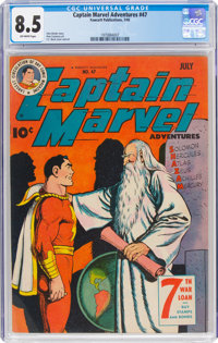 Captain Marvel Adventures #47 (Fawcett Publications, 1945) CGC VF+ 8.5 Off-white pages