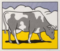 Prints & Multiples, Roy Lichtenstein (1923-1997). Cow Triptych: Cow Going Abstract, 1982. Screenprint in colors on smooth wove paper, with t... (Total: 3 Items)