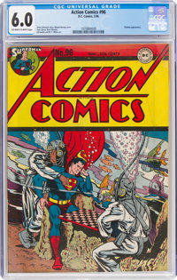 Action Comics #96 (DC, 1946) CGC FN 6.0 Off-white to white pages