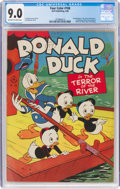 Four Color #108 Donald Duck (Dell, 1946) CGC VF/NM 9.0 Off-white to white pages