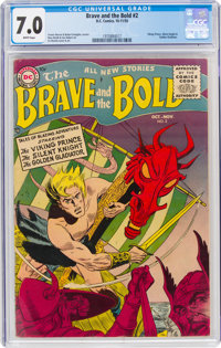 The Brave and the Bold #2 (DC, 1955) CGC FN/VF 7.0 White pages