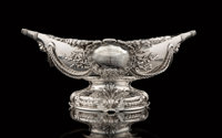 A Tiffany & Co. Silver Yachting Trophy: Newport Citizens Cup, New York, 1887 Marks: TIFFA