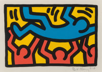 Keith Haring (1958-1990) Untitled, 1987 Lithograph in colors on Rives BFK paper 8-1/4 x 12-1/8 in