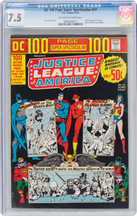 DC 100 Page Super Spectacular #17 Justice League of America (DC, 1973) CGC VF- 7.5 Off-white to white pages