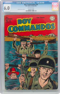 Boy Commandos #10 (DC, 1945) CGC FN 6.0 Off-white pages