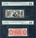 Fractional Currency:Third Issue, Fr. 1328SP 50¢ Third Issue Spinner Narrow Margin Pair PMG Choice Uncirculated 64.. ... (Total: 2 notes)