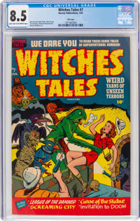 Witches Tales #7 File Copy (Harvey, 1952) CGC VF+ 8.5 Light tan to off-white pages