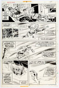 Don Heck and Frank Springer Giant-Size Dracula #4 Original Art Story Page 5 (Marvel, 1975)