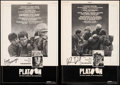 """Movie Posters:Academy Award Winners, Platoon (Orion, 1986). Very Fine+ on Linen. Autographed Trade Ads (2) (10"""" X 14.75""""). Academy Award Winners.. ... (Total: 2 Items)"""