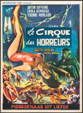 "Movie Posters:Horror, Circus of Horrors (Metropolitan Films, 1960). Folded, Fine+. Trimmed Belgian (14"" X 19.25""). Horror.. ..."