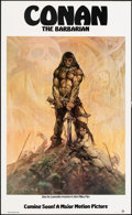 """Movie Posters:Action, Conan the Barbarian (20th Century Fox, 1980). Rolled, Very Fine-. Poster (22"""" X 36""""). Advance, Frank Frazetta Artwork. Actio..."""