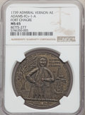 1739 Medal Admiral Vernon, Fort Chagre, MS65 NGC. Betts-277, Adams-Chao-FCv-12-Q, R.5