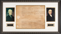 Thomas Jefferson Four-Languages Ship's Passport Signed