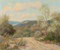 Paintings, Palmer Chrisman (American, 1913-1984). The Dusty Trail. Oil on canvas . 20 x 24 inches (50.8 x 61.0 cm). Signed lower le...