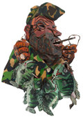 Sculpture, David Bates (American, b. 1952). Barn Door Crappies, 1977. Mixed media. 48 x 33 x 12 inches (121.9 x 83.8 x 30.5 cm) (ov...