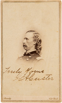 George A. Custer Carte de Visite Signed... (Total: 2 )