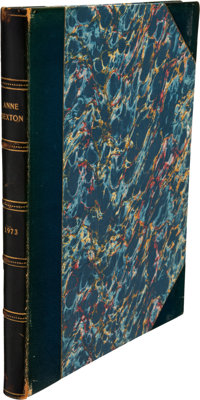 Anne Sexton Volume of Poetry and Two Typed Letters Signed