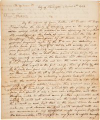Meriwether Lewis Autograph Letter Signed