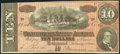 Confederate Notes:1864 Issues, T68 $10 1864 PF-31 Cr. 549 Choice About Uncirculated.. ...