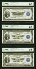 Fr. 727 $1 1918 Federal Reserve Bank Notes Eleven Consecutive Examples PMG Choice About Unc 58 EPQ