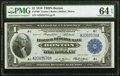 Large Size:Federal Reserve Bank Notes, Fr. 708 $1 1918 Federal Reserve Bank Note PMG Choice Uncirculated 64 EPQ.. ...