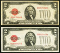 Small Size:Legal Tender Notes, Fr. 1502 $2 1928A Legal Tender Note. Very Fine-Extremely Fine;. Fr. 1503 $2 1928B Legal Tender Note. Very Fine.. ... (Total: 2 notes)