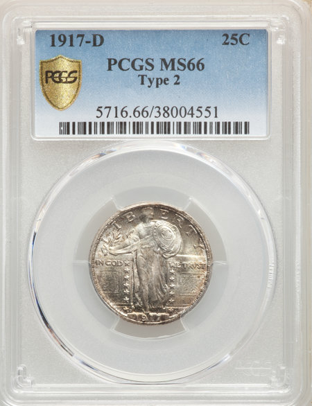 1917-D Type Two PCGS Secure 66 PCGS