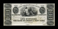 Obsoletes By State:Louisiana, New Orleans, LA- New Orleans Gas Light & Banking Company $100 G18 Proof. ...