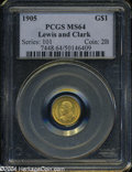 Commemorative Gold: , 1905 Lewis and Clark MS64 PCGS. ...