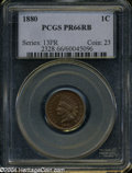 Proof Indian Cents: , 1880 PR 66 Red and Brown PCGS. ...