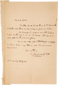 Autographs:Authors, James Fenimore Cooper Autograph Letter Signed...