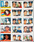 Baseball Cards:Other, 2009 Topps Heritage Baseball Uncut Panels Lot of 2. ...